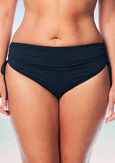 Beach House Plus Size Solid Adjustable High Waist Swim Bottom