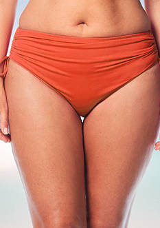 Beach House Plus Size Solid Adjustable High Waist Swim Bottom