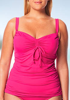 Beach House Plus Size Solid Underwire Tankini