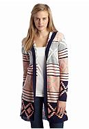 Say What? Tribal Hooded Duster Cardigan