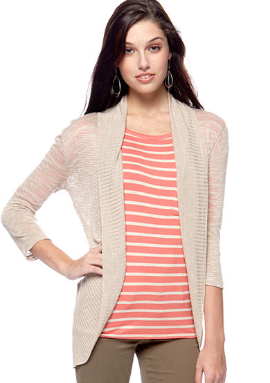 Say What Slub Open Cardigan