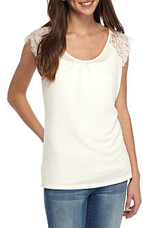 Say What Short Sleeve Knit Top
