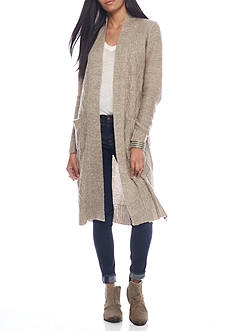 Say What Long Duster Cardigan