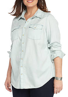 Lucky Brand Plus Size Classic Western Shirt