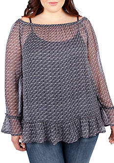 Lucky Brand Plus Size Off The Shoulder Top