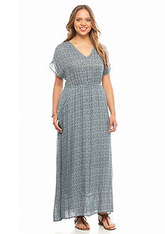 Lucky Brand Plus Size Paisley Maxi Dress