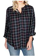 Lucky Brand Plus Size Girlfriend Plaid Top