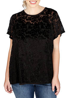 Lucky Brand Plus Size Burntout Top