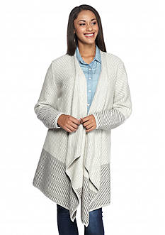 Lucky Brand Plus Size Waterfall Cardigan