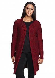 Lucky Brand Plus Size Marled Waterfall Cardigan