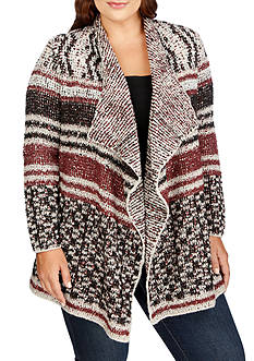 Lucky Brand Plus Size Stripe Cardigan