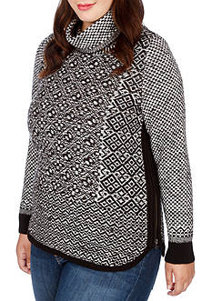 Lucky Brand Plus Size Side Zip Turtleneck