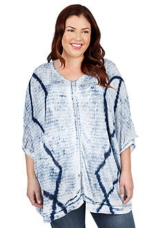 Lucky Brand Plus Size Tie-Dye Top