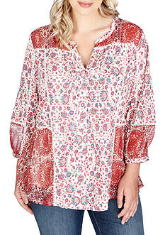 Lucky Brand Plus Size Print Top
