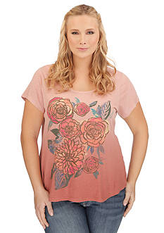Lucky Brand Plus Size Washed Bouquet Tee