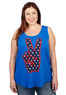Lucky Brand Plus Size Peace Hand Tank