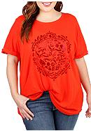 Lucky Brand Plus Size Circle Tee