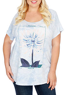 Lucky Brand Plus Size Dahlia Graphic Tee