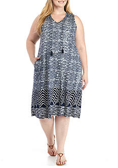 Lucky Brand Plus Size Batik Dress