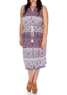 Lucky Brand Plus Size Floral Mixed Print Dress