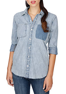 Lucky Brand Denim Boyfriend Shirt