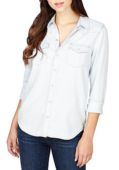 Lucky Brand Classic Western Button Down Top
