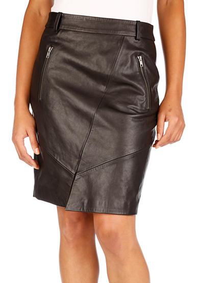 Lucky Brand Leather Pencil Skirt