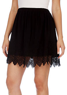 Lucky Brand Eyelet Lace Skirt