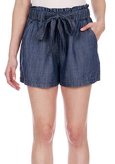 Lucky Brand Tie Front Chambray Shorts