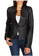 Lucky Brand Faux Leather Blazer