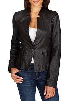 Lucky Brand Leather Blazer