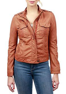 Lucky Brand Patch Pocket Leather Jacket