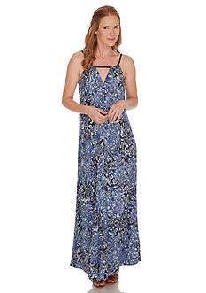 Lucky Brand Indigo Floral Maxi Dress