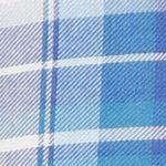 Trendy Womens Clothing: Plaids: Blue Lucky Brand Short Sleeve Plaid Top