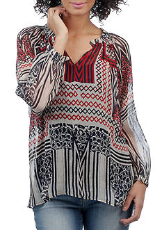 Lucky Brand Printed Blouse