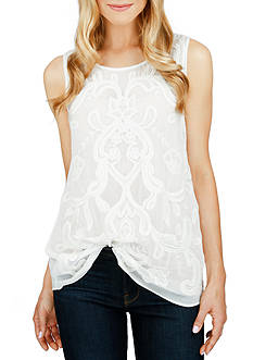 Lucky Brand Embellished Tank