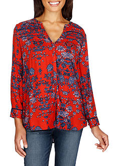 Lucky Brand Vintage Print Top