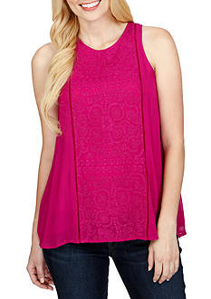 Lucky Brand Color Pop Embroidered Tank Top