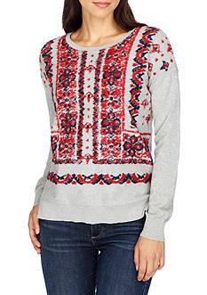 Lucky Brand Bandana Pullover Top