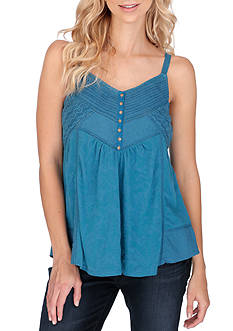 Lucky Brand Mixed Trim Cami
