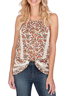Lucky Brand Floral Halter Tank