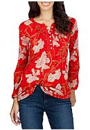 Lucky Brand Red Floral Top
