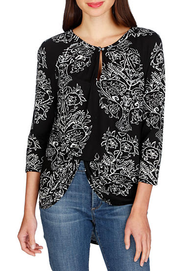 Lucky Brand Printed Raglan Top