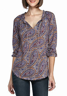 Lucky Brand Multi-Color Printed Top