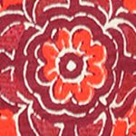Multi Womens Designer Clothing: Red Multi. Lucky Brand Woodblock Floral Top