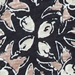 Multi Womens Designer Clothing: Black Multi. Lucky Brand Woodblock Floral Top