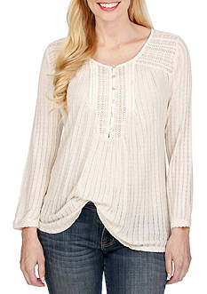 Lucky Brand Drop Needle Top