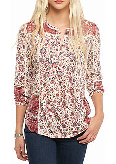 Lucky Brand Mixed Floral Top