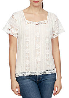 Lucky Brand Mar-Lace Top