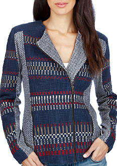 Lucky Brand Woven Mixed Jacket